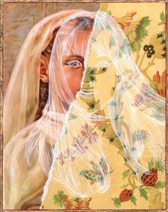Lampman - Portraits on Portraits on Portraits via Brown Paper Bag Collage Portrait, Portraits, Collage Art, Collages, Katie Kim, Paper Plants, Life Paint, Thread Painting, Brown Paper
