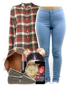 """""""Flannelssss"""" by babygirlslayy ❤ liked on Polyvore featuring Band of Outsiders, Louis Vuitton, NARS Cosmetics, MICHAEL Michael Kors, TOMS, women's clothing, women's fashion, women, female and woman"""