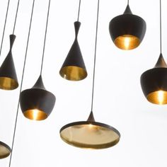 Buy Tom Dixon Beat Fat Black Pendant Light online with Houseology Price Promise. Full Tom Dixon collection with UK & International shipping. Large Pendant Lighting, Black Pendant Light, Pendant Lights, Gold Pendant, Black Pendants, Pendant Lamps, Tom Dixon Lampe, Interior Lighting, Lighting Design