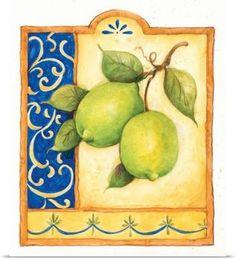 Tuscan Limes (72 pieces) Canvas Art, Canvas Prints, Art Prints, Big Canvas, Tiles Texture, Watercolor Logo, Fruit Art, Kitchen Wall Art, Pottery Painting