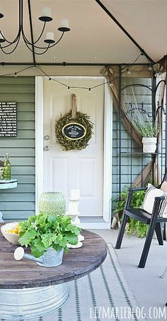 This DIY patio door makeover from Liz @lizmariegalvan is full of chic farmhouse charm. Liz started by giving her chipped and weathered door a fresh new look with a coat of BEHR Marquee. This tough exterior paint and primer provides premium protection against weathering and everyday wear and tear. Check out the rest of Liz's article to learn more.