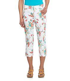 Intro Comfort Waist and Love the Fit FloralPrint Twill Capris #Dillards