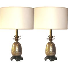 Pair of Vintage Brass Pineapple Lamps by theenchantedfigtree, $789.00