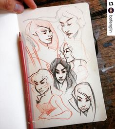 #wooolikes @bofenglin  How I listen to the teacher #drawing #charcoalpencil #chicas #moleskine #wooomic #characterdesign #character #likes #repost #regram #sketch #sketchbook #study #female