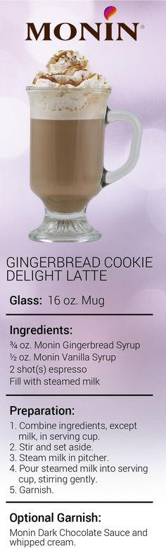 Gingerbread Cookie Delight Latte