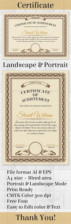 Certificate template - #Certificates #Stationery Download here: https://graphicriver.net/item/certificate-template/20087076?ref=alena994
