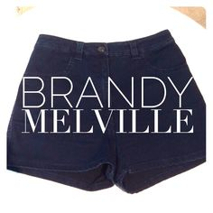 Brandy Melville shorts Navy blue. Stretchy material. High waisted. Worn a couple times if that.  Brandy Melville blue shorts.  Will not lower price. High waisted blue brandy Melville shorts. Brandy Melville Jeans