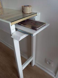 Hallway Pallet Table with Hidden Drawer Desks & Tables