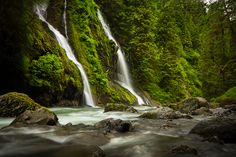 Feature Show Falls  Boulder River Trail, WA    |    Veiled Hints... by LAlight.deviantart.com
