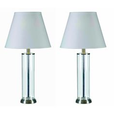 Clear Glass Fillable Table Lamp (Set of 2) #DesignCraft