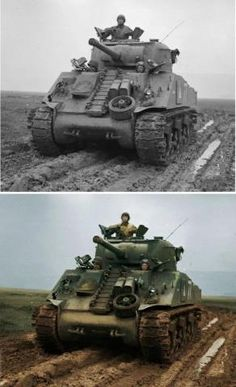 M4A3 Sherman tank - Colourized
