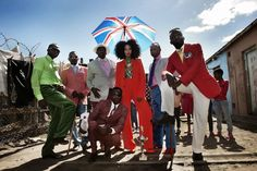 bacongo - Solange Knowles with 'sapeurs'