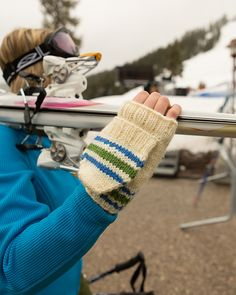 Ravelry: Striped Flip-Top Mittens pattern by Stephannie Tallent from Stitch Mountain by Laura Zander
