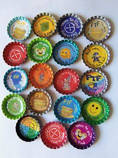 5 FTF Bottle Caps Geocaching Swag | eBay