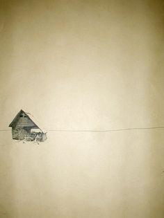 Felicity Warwick - 'untitled - ink on paper monoprint - 68 x 49 cm - 2011 Illustrations, Illustration Art, House On Stilts, Water Art, Sketch Books, Imagines, Archetypes, Printmaking, Sketches