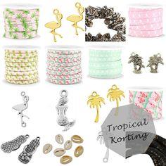 *Weekdeal* Alleen deze week: heel veel korting op onze tropical collectie. | www.bykaro.nl voor kralen, bedels en meer...