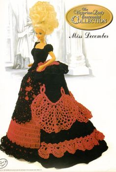 The Victorian Lady Centennial Collection Fashion Doll Crochet Pattern via Etsy