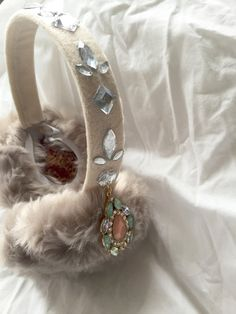 Jeweled earmuffs! My scream queens wardrobe is complete! ($48 via Etsy)