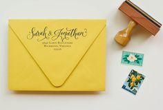 Image of Calligraphy Ampersand Return Address Stamp