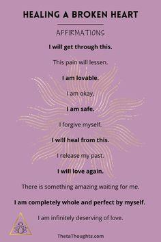 Positive Affirmations to Heal a Broken Heart