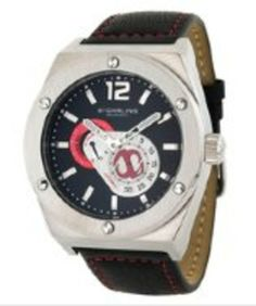 Stuhrling Original Men's Automatic Esprit Black Dial Black Leather gifters.com Stuhrling Watches