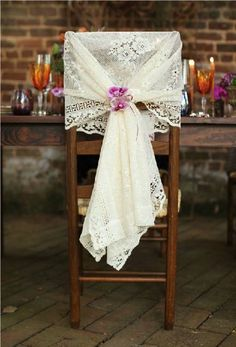 why not make these from vintage lace or for the bride and groom from moms wedding dress maria otero bridal shower table decoration ideas