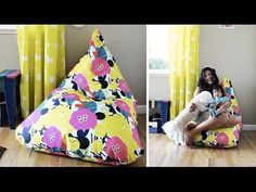How to Make an Amazing Easy Bean Bag Chair (Sillón Puff Tutorial) | Live Colorful - YouTube
