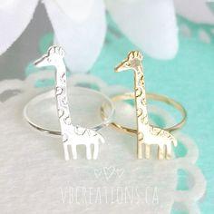 Giraffe Ring Giraffe Jewelry African Jewelry Animal Ring