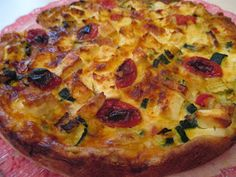 Vegetable Pizza, Quiche, Food And Drink, Baking, Vegetables, Breakfast, Drinks, Ideas, Morning Coffee