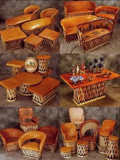 Image detail for -... Furniture a Southwest Santa Fe Sedona Style Decor Barrel Chair Mexican