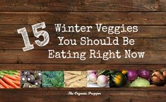 We've become so far removed from the land that most folks don't even know what vegetables are in season this time of year.