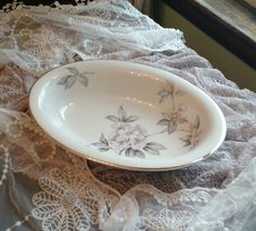 Spring Glory by Ancestral American Hostess, Fine Translucent China, 11 inch Oval Vegetable Bowl by MyComfyCozyHome on Etsy