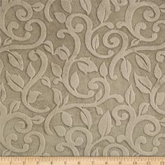 Minky Vine Cuddle Cafe from @fabricdotcom  This ultra soft and cuddly fabric has a smooth minky surface with flourish embossing. Pile measures 5mm. Fabric is perfect for making ultimate minky blanket, throws, cuddly toys, lounge wear, quilt backing much more!