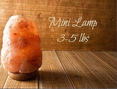Mini 3-5 lb Himalayan Rock Salt Carved Ionizer Lamp