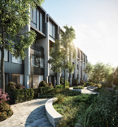 Unstoppable ・・・ Annandale Place Podium Sydney, in collaboration with and 🙌🌳🌿🍃 Architecture Panel, Green Architecture, Residential Architecture, Landscape Architecture, Landscape Design, Architecture Design, Drawing Architecture, Architecture Portfolio, 3d Architectural Visualization