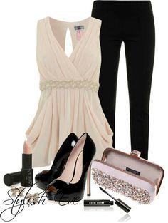 if the clutch didn't have so much bling on it *LOL* the heels on the shoes would be shorter