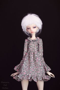 Floral cotton dress for bjd Doll Chateau kid k-7/k-11 body by GlamouriaDollClothes on Etsy https://www.etsy.com/listing/595180092/floral-cotton-dress-for-bjd-doll-chateau