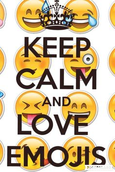 KEEP cALM AND LOVE EMOJIS - KEEP cALM AND cARRY ON Image Generator cool Pinterest So true ...