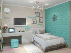 Ideas-Kids-Will-Love/ teen girl bedrooms, teenage girl bedrooms, te Girls Room Design, Girl Bedroom Designs, Design Room, Woman Bedroom, Dream Bedroom, Bedroom Girls, Girl Rooms, Bedroom Colors, Bedroom Decor