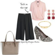 culottes by fabafter40 on Polyvore featuring Topshop, MANGO, BC Footwear, Tory Burch, Kate Spade and Marc by Marc Jacobs
