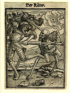 Knight and the Death, Hans Holbein (II), Hans Lützelburger, 1524 - 1526 Hans Holbein, Dance Of Death, La Danse Macabre, Renaissance Kunst, Skeleton Art, Landsknecht, Occult Art, Goth Art, Medieval Art