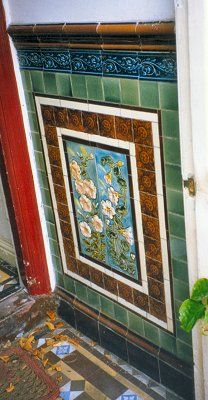 THE DIRECTORY OF ARCHITECTURAL CERAMICS IN WOLVERHAMPTON Victorian Front Doors, Victorian Porch, Victorian Tiles, Victorian Bathroom, Antique Tiles, Victorian Decor, Porch Wall Tiles, Fireplace Tiles, Modern Southwest Decor