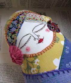 Decorative Doll: Enchanted Matroyshka with Lilac tweed body. £28.00, via Etsy.