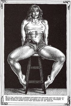 "Robert CRUMB 1996 - ART & BEAUTY MAGAZINE #1 - ""… the magnificent boldness of the powerful physique…"""