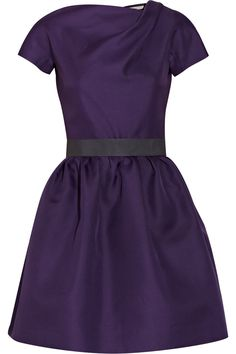 Victoria Beckham Belted Silk-Gazaar Dress (Where can I get this in the non expensive non silk?)