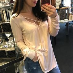 """Pop the bubbly it's a champagne kind of day  """"Pink Champagne"""" top ($48)  Gotta  FREE SHIPPING! Call 440.893.9279 or email sales@sanitystyle.com to order or shop instore!  #sanitystyle #sanitychagrinfalls #shoplocal #chagrinfalls #shopchagrinfalls #boutique #freeshipping #cleveland #clevelandfashion #clevelandstyle #style #shop #cle #thisiscle #love #selloninsta #instasale #fashionpost #beautiful #picoftheday #shopping #shopaholic #fall #fallfashion  #retailtherapy"""