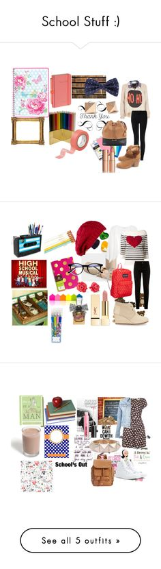 """School Stuff :)"" by elablue123 ❤ liked on Polyvore featuring River Island, Rails, Vivienne Westwood Anglomania, rag & bone, Jayson Home, Michael Kors, Knightsbridge Neckwear, Charlotte Tilbury, GreenGate and Ted Baker"