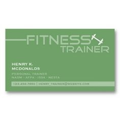 Fitness Personal Trainer Gym Dumbbell Business Card. It's two-sided with no additional charge, and totally customizable!