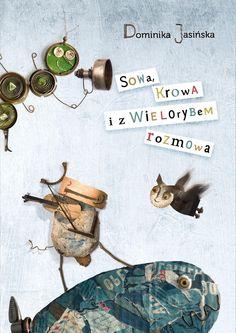 polska ilustracja dla dzieci: Zapowiedź - Sowa, Krowa i z Wielorybem rozmowa