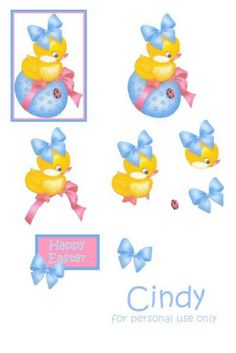 Blue Butterfly: To Decoupage Papers 3d Sheets, Decoupage Paper, Blue Butterfly, Happy Easter, Tweety, Cinderella, Disney Characters, Fictional Characters, Album
